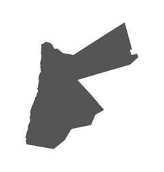 jordan map black icon on white background vector image