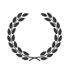 laurel wreath symbol achievement vector image