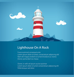Lighthouse at the sea poster vector