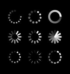 loading icon circle website buffer loader vector image
