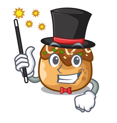 Magician takoyaki shape in balls a cartoon vector