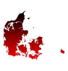 Map of Denmark vector