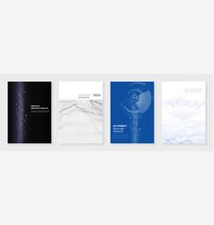 Minimal brochure templates big data visualization vector