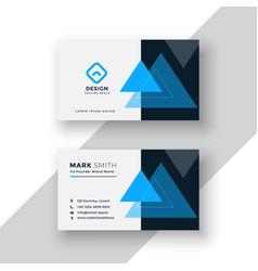 modern minimal blue business card design vector image