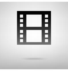 Movie black icon vector image
