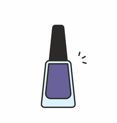 nail polish icon vector image