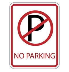 No parking sign vector