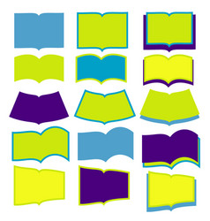 open books on white background vector image