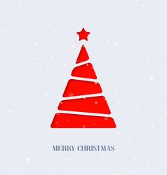 Paper cut christmas tree vector