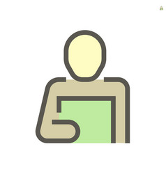 person reading document icon design for business vector image