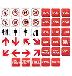 pictogram prohibited sale discounts vector image