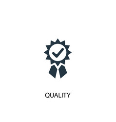 quality icon simple element quality vector image