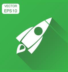 rocket icon business concept rocket launch vector image
