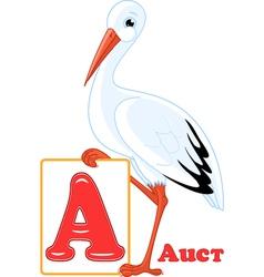 Russian alphabet letter A vector