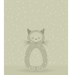 Sad cat vector
