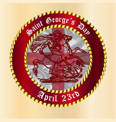 saint georges day button vector image