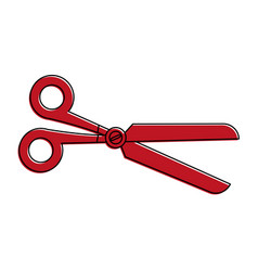 Scissors stationery supply icon image vector