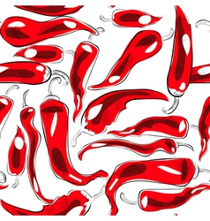 seamless wallpaper with chili pepper vector image