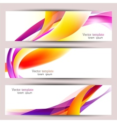 Set of three colorful banners Designed in the same vector image