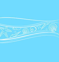 shell background ocean seashell sea beach marine vector image