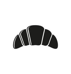 Simple black Croissant Icon vector image