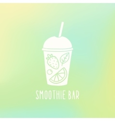 Smoothie bar Cup to go with fruits vector image