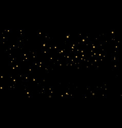 stars on black night background vector image