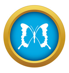 Swallowtail butterfly icon blue isolated vector