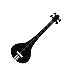 Traditional Indian sarod icon simple style vector