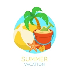 Tropic beach symbol vector image