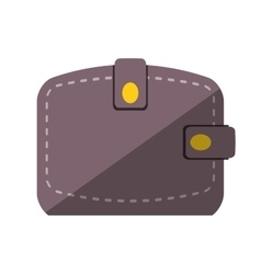 Wallet save money flat icon vector