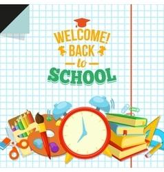 Welcome back to school vector