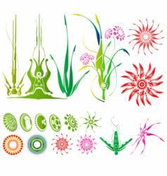 abstarct plants vector image