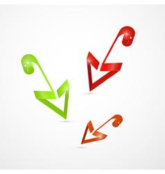 Abstract 3d Arrow Icon vector image vector image