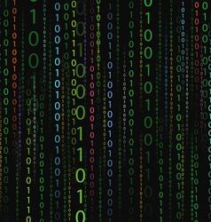 Color stream of binary codes vector image