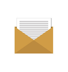 email envelope message social network graphic flat vector image vector image