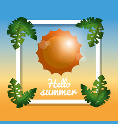 hello summer vacations vector image