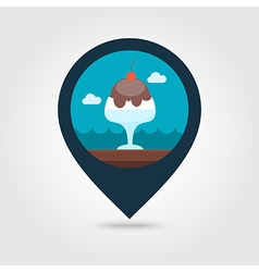 Ice Cream pin map icon Summer Vacation vector image