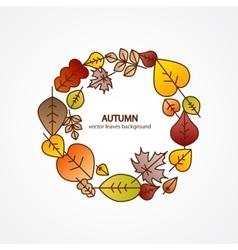 nice modern fall leaves autumn decorative vector image