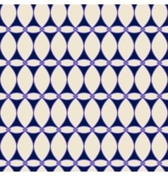 Oval and triangle seamless pattern 1303 vector image