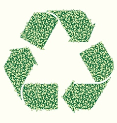 Recycle Leaf vector image vector image