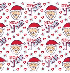 Santa claus new year pattern christmas wrapping vector