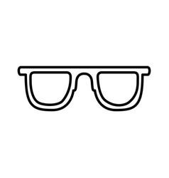 black silhouette of sunglasses icon vector image