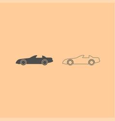 car dark grey set icon vector image vector image