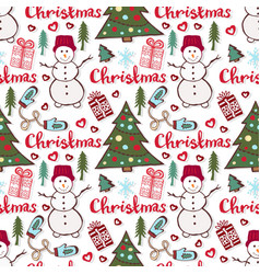 christmas holiday pattern cute seamless pattern vector image