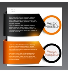 Colorful bookmarks for speech Black and orange vector image
