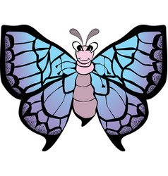 funny butterfly cartoon vector image