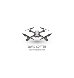 Isolated rc drone logo on white uav technology vector