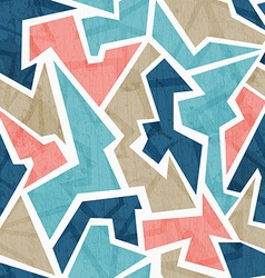 vintage geometric triangle seamless pattern vector image
