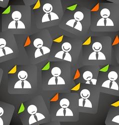 Abstract crowd of social media account avatars vector image